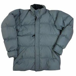 Marmot vintage gray zip puffer jacket. L